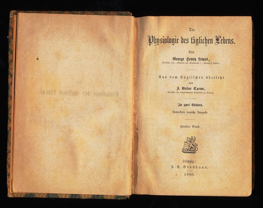 Die Physiologie des täglichen Lebens. Zweiter (2.) Band Autoris. deutsche Ausg.,