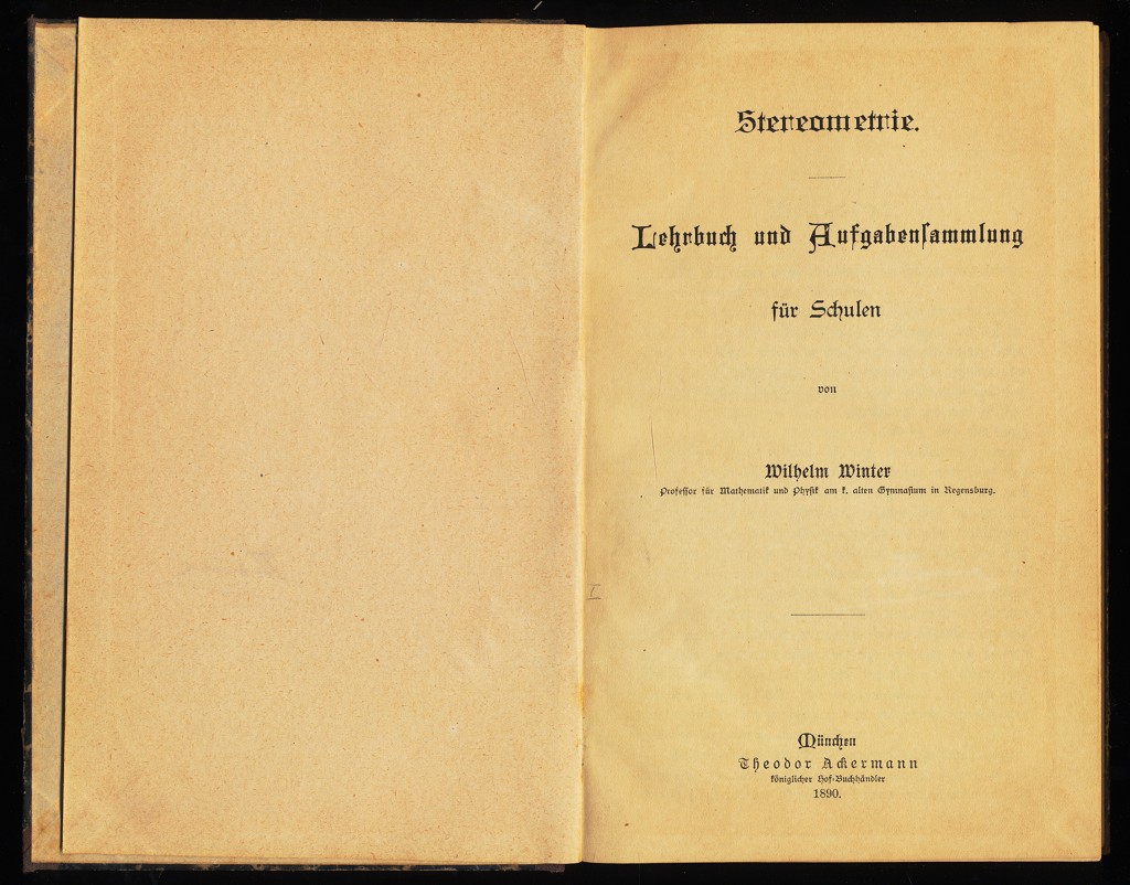 Stereometrie : Lehrbuch und Aufgabensammlung für Schulen.