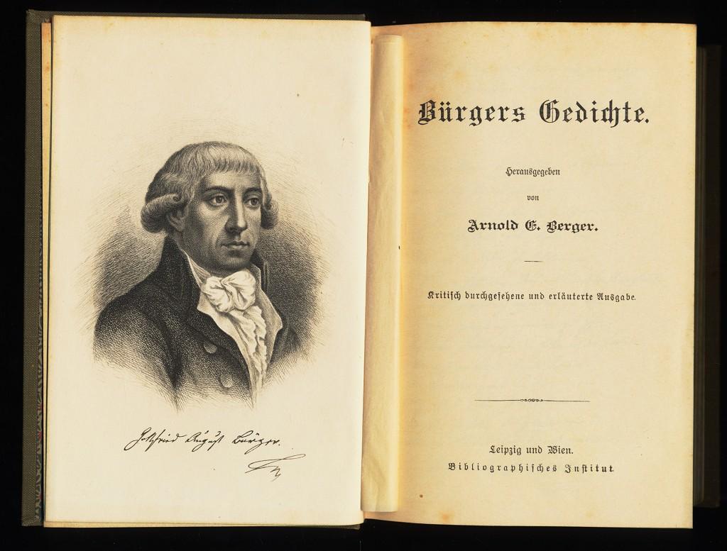Bürgers Gedichte : Hrsg. von Arnold Erich Berger, Gottfried August Bürger. Kritisch durchges. u. erl. Ausg.,