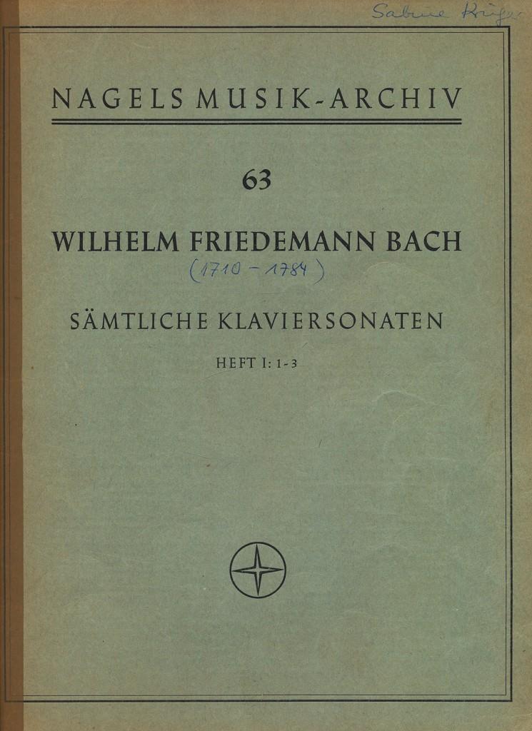 Sämtliche Klaviersonaten, Heft 1: 1-3 , Nagels Musik-Archiv Nr. 63