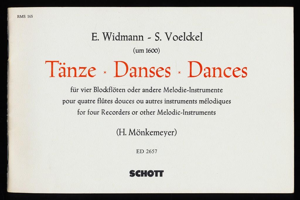 """Tänze für vier Blockflöten (Sopran c"""", Alt f"""
