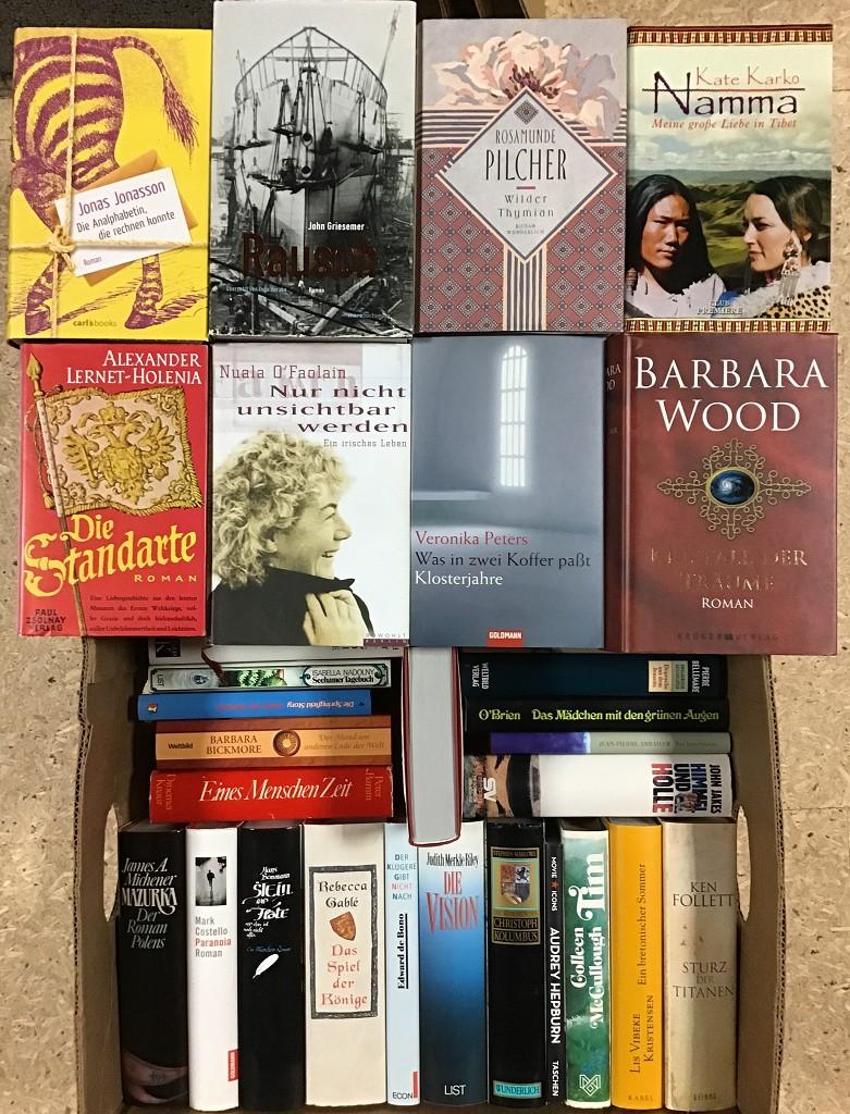 43 Bücher Romane Erzählungen Krimi Biographie Hardcover, Schutzumschlag Buchpaket Paket