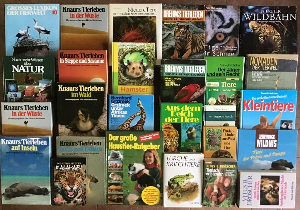 40 Bücher über Tiere Fauna Wildtiere Haustiere Wissen Ratgeber Erzählungen Paket