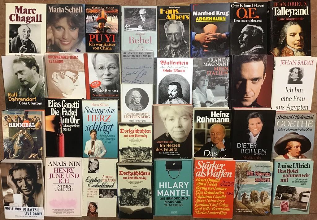 48 Bücher Biografie Lebenslauf Schicksal Erinnerungen Briefwechsel Buchpaket