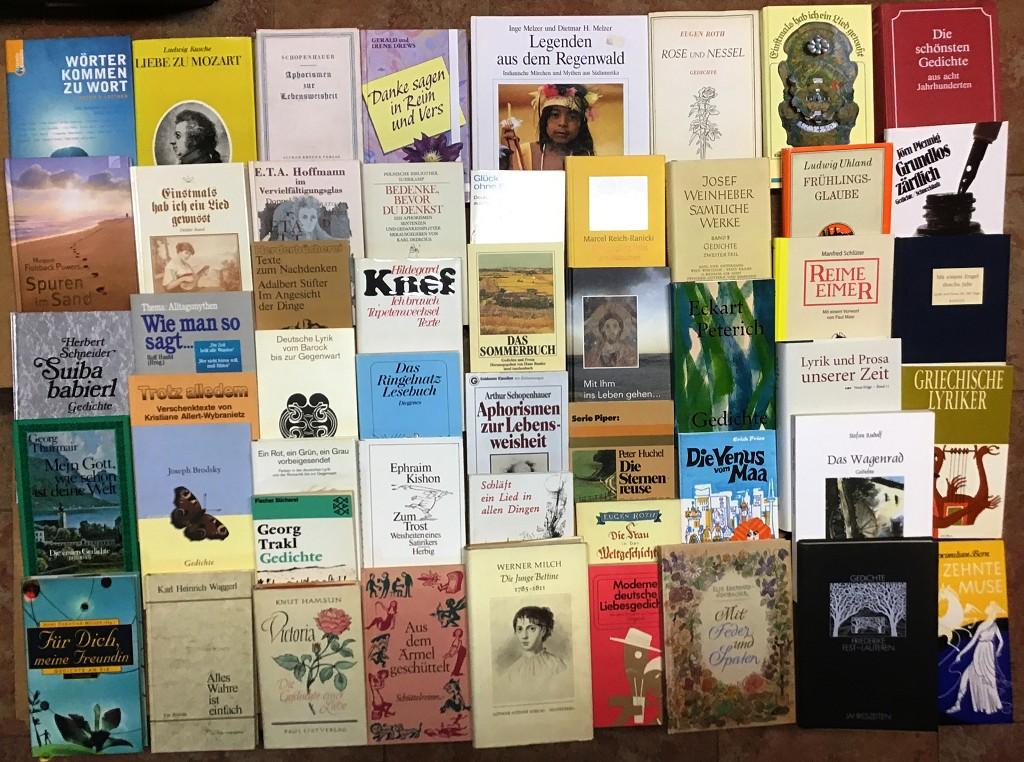 109 Bücher Gedichte Prosa Lyrik Anthologie Verse Novellen Poesie Kl. Bettlektüre Buchpaket Konvolut Sammlung