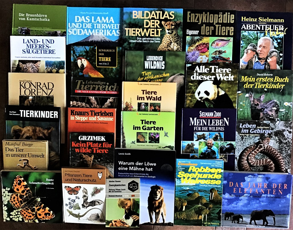 39 Bücher über Tiere Fauna Wildtiere Haustiere Wissen Ratgeber Erzählungen Paket