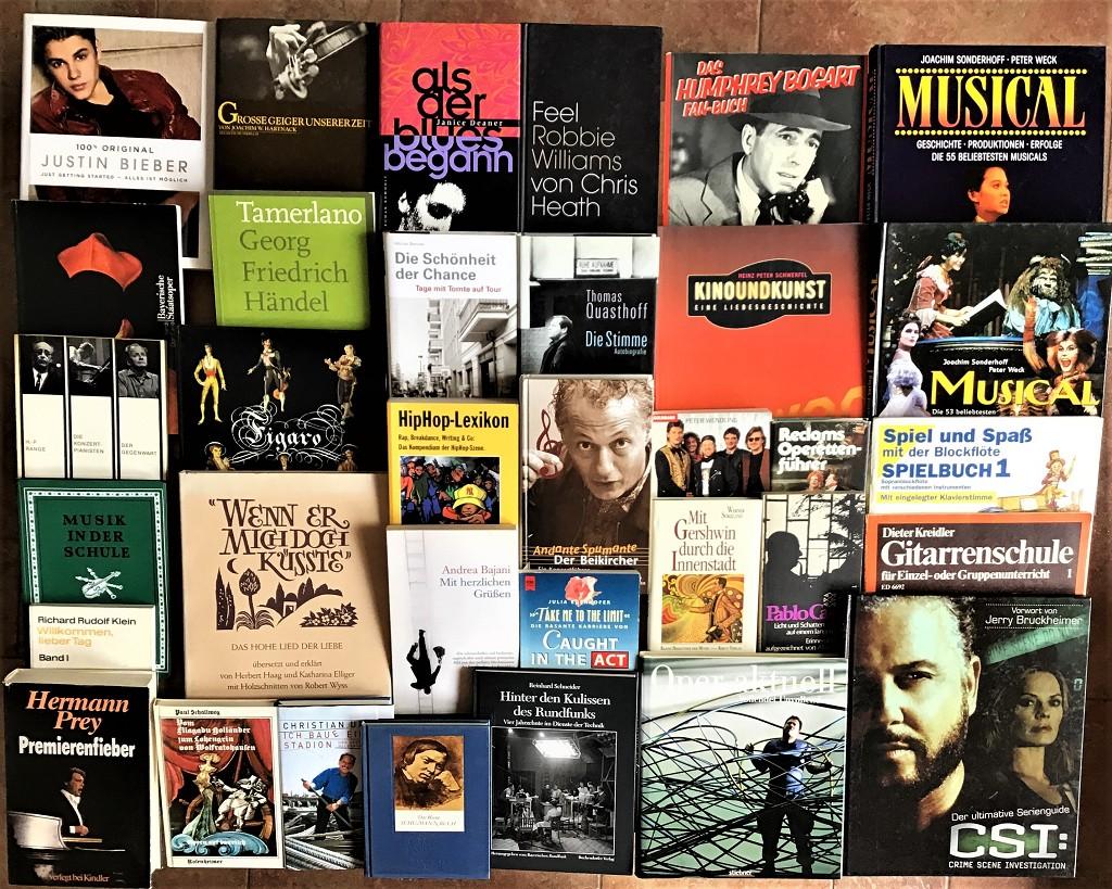 46 Bücher Musik Theater Bühnenbild Oper Rock Pop Musikgeschichte Noten Buchpaket