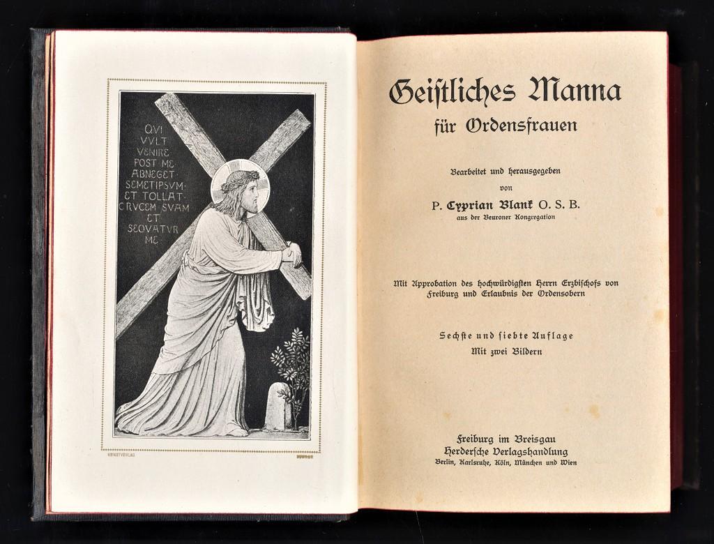 Geistliches Manna für Ordensfrauen. 6. u. 7. Aufl.,