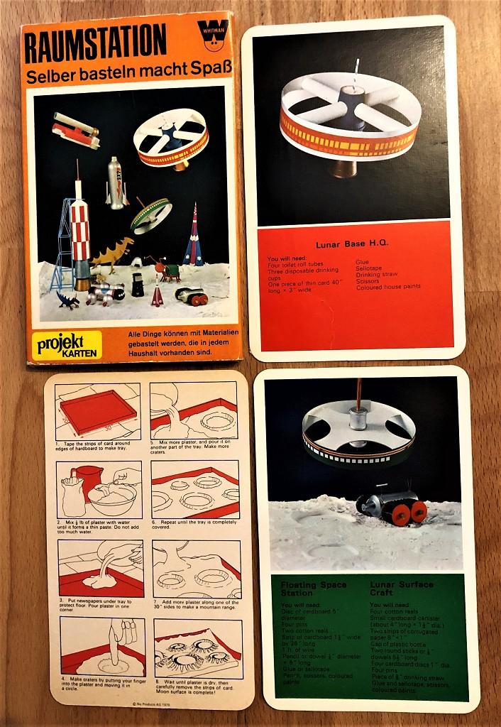 Raumstation, Selber basteln macht Spaß : Acht Projekt-Karten im Schuber. Alle Dinge können mit Materialien gebastelt werden, die in jedem Haushalt vorhanden sind.