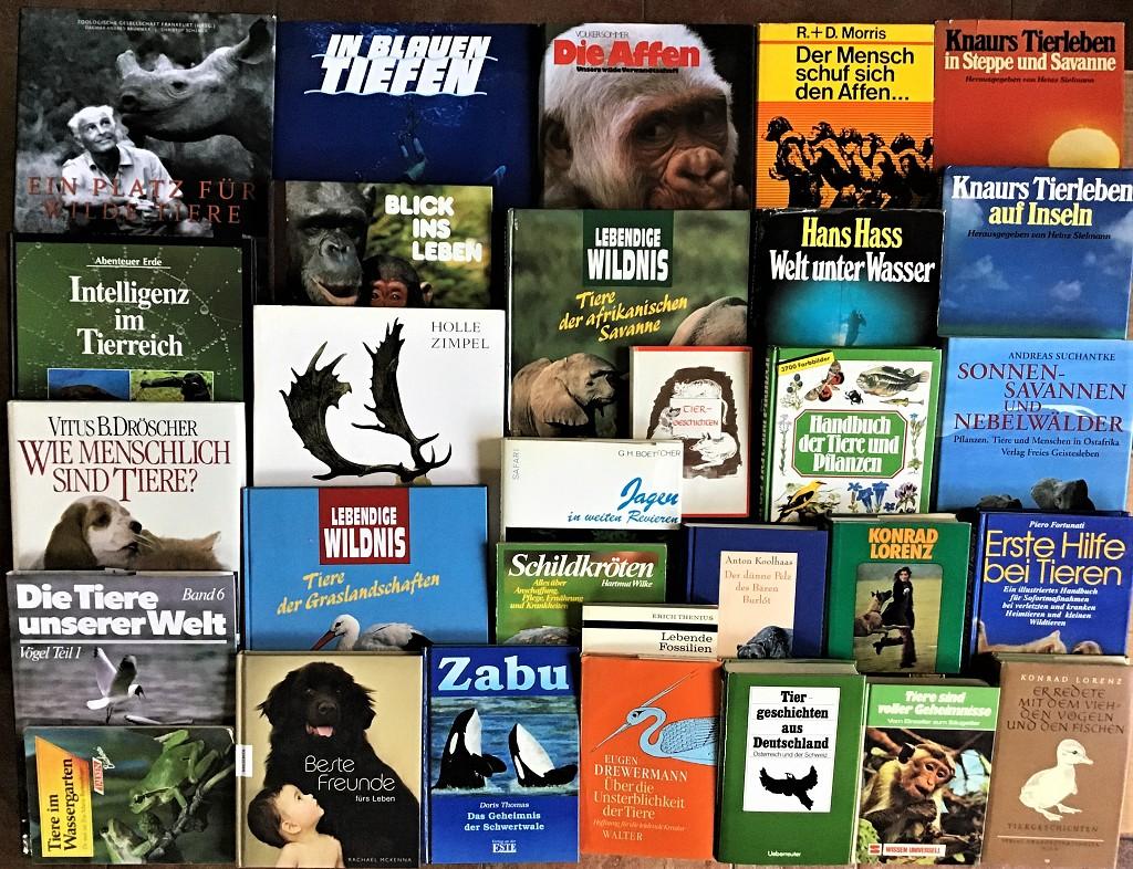 30 Bücher über Tiere Fauna Wildtiere Haustiere Wissen Ratgeber Erzählungen Paket
