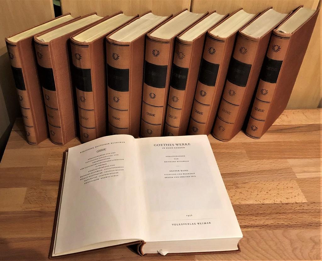 Goethes Werke in zehn Bänden (1. bis 10. Band, 10 Bände vollständig)