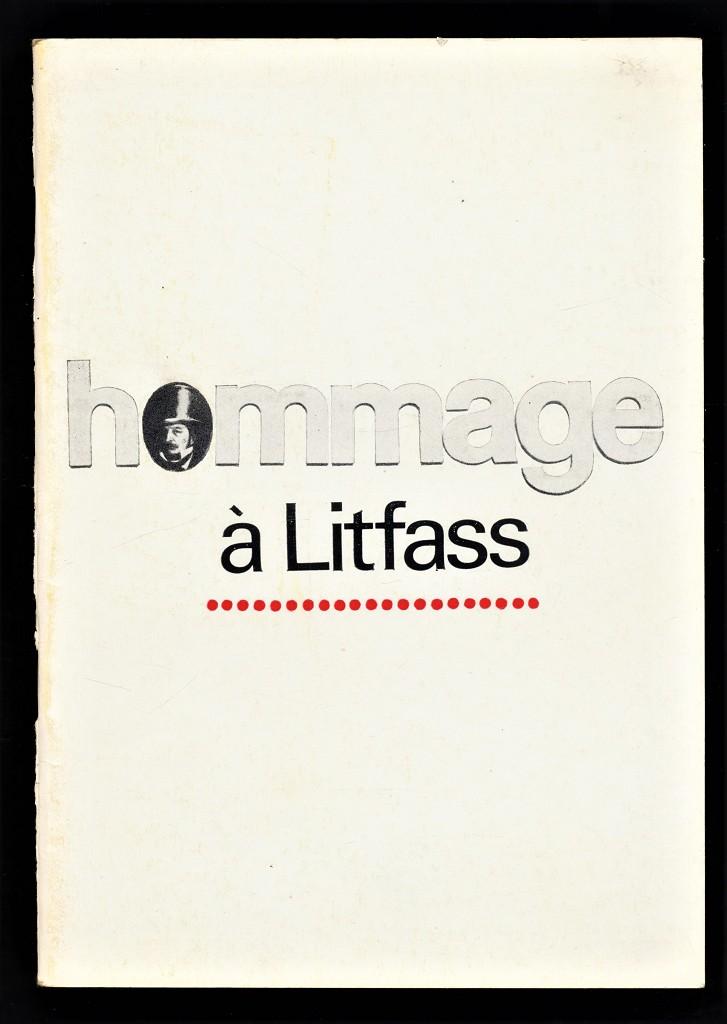 Hommage à Litfass : Resümee einer Plakataktion des VBK-DDR aus Anlass des 125jährigen Jubiläums der Litfasssäule. Plakatedition Nr. 3