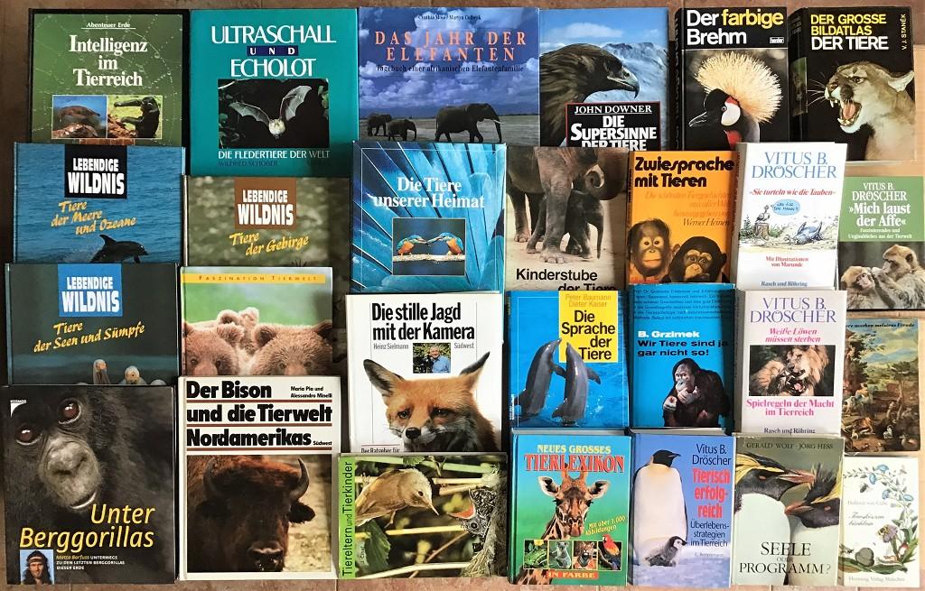 28 Bücher über Tiere Fauna Wildtiere Haustiere Wissen Ratgeber Erzählungen Paket