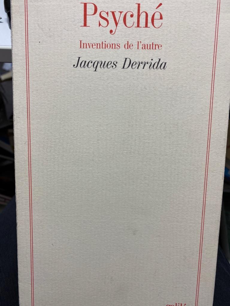 PSYCHE (INVENTIONS DE L'AUTRE) (GALILEE) - Derrida, Jacques