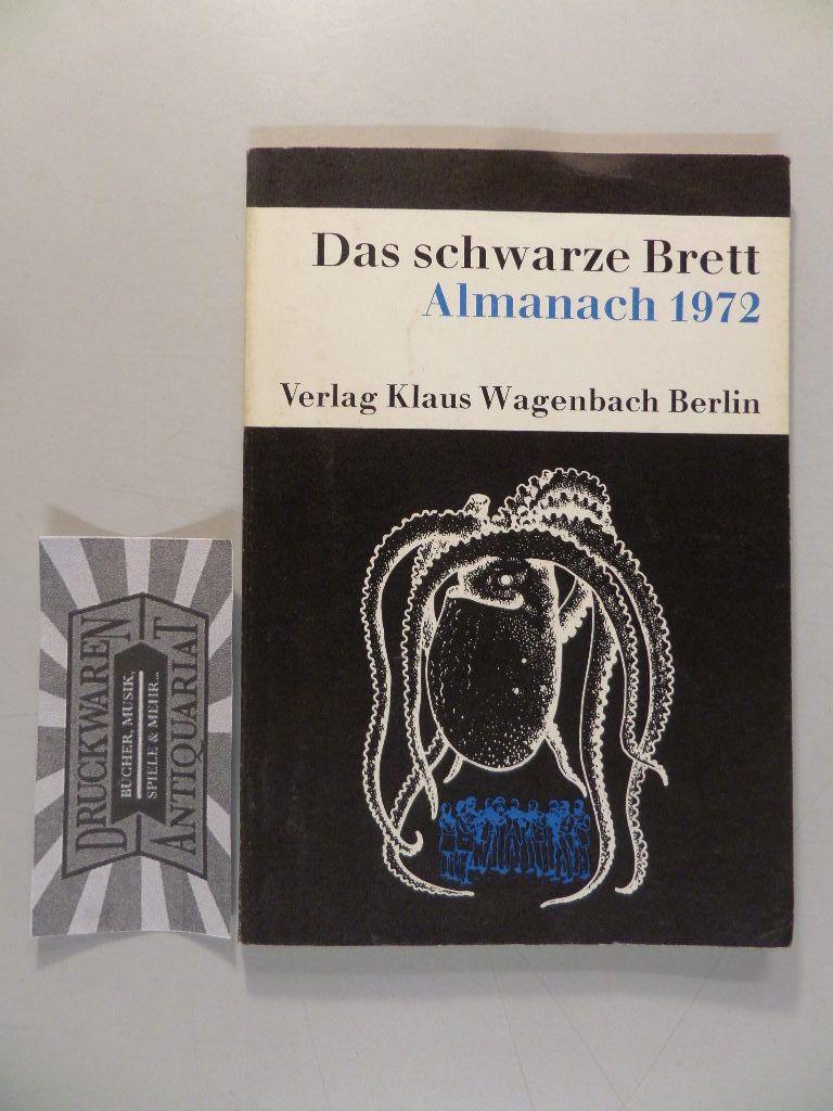 Das schwarze Brett. Almanach 1972.