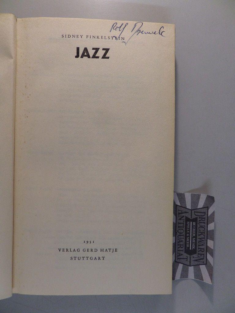 Finkelstein, Sidney: Jazz.