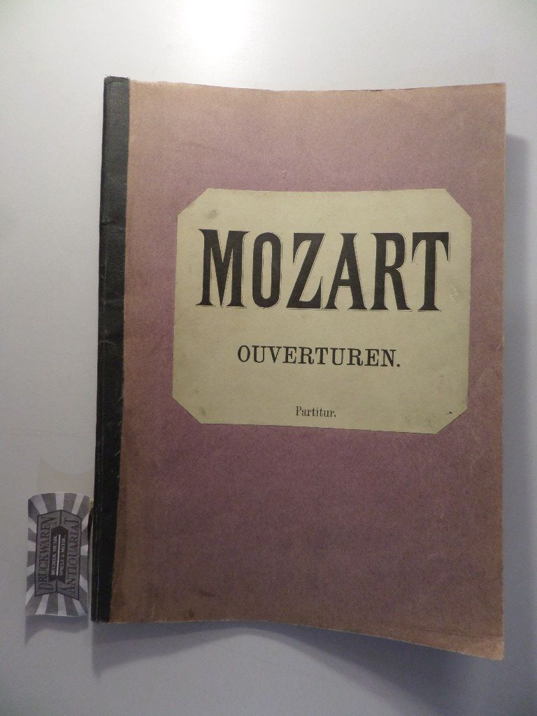 Berühmte Ouverturen von Mozart, Beethoven, Weber, Cherubini in Partitur.