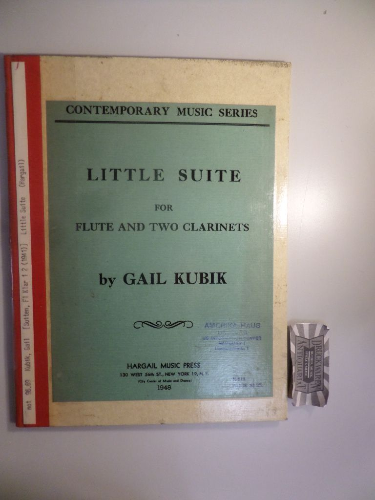 Gail Kubik : Little Suite for Flute and two Clarinets.
