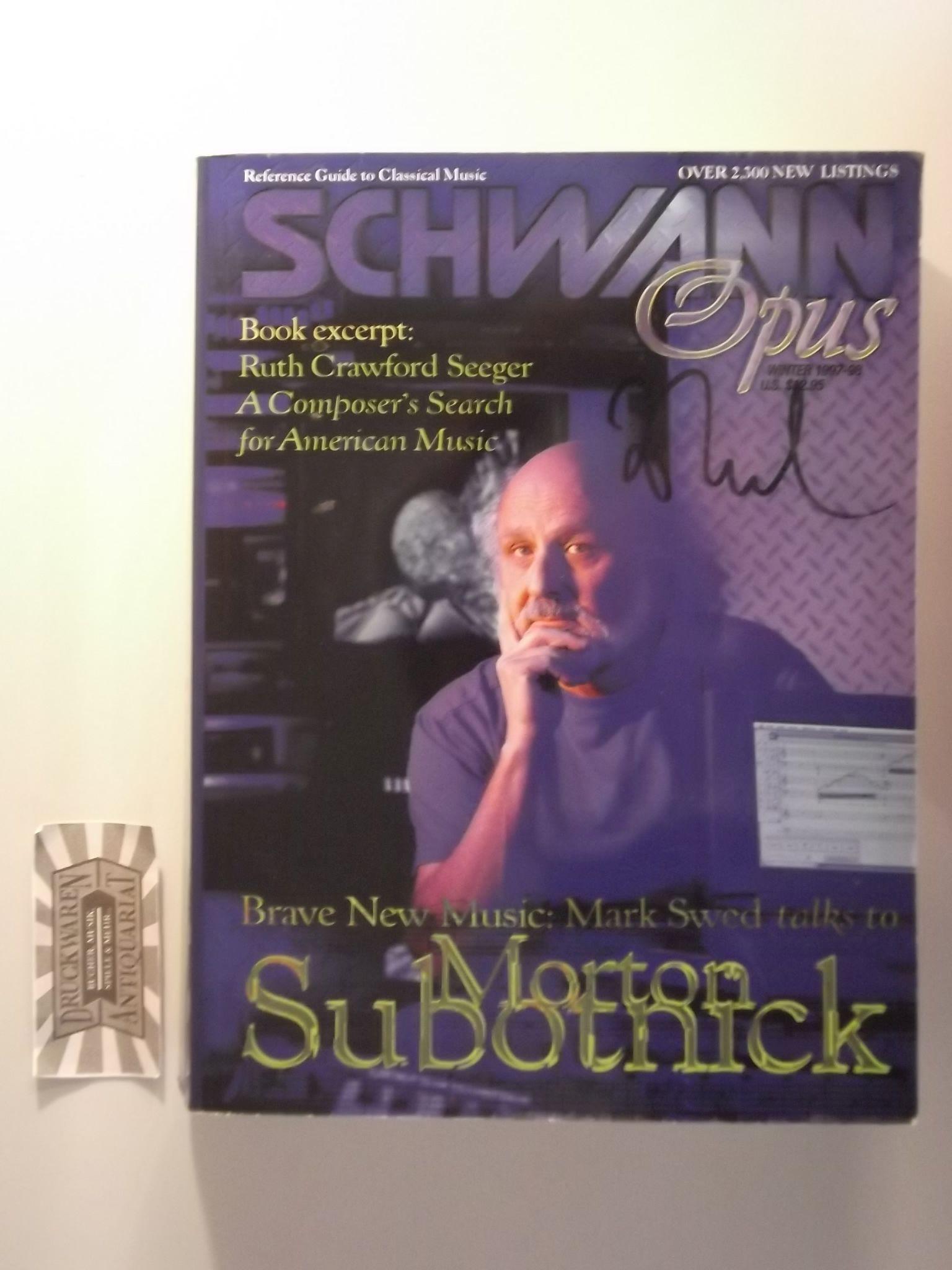 Schwann Opus : Volume 9 Number 1 - Winter 1997/98.