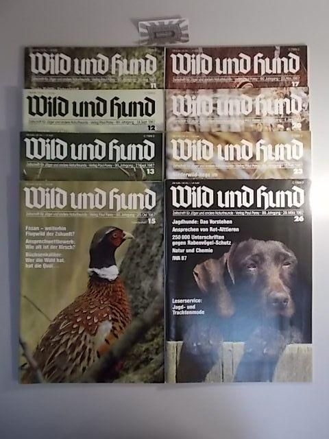 Wild und Hund - 90. Jahrgang 1987 Nr. 11-13, 15, 17, 20, 23, 26 [8 Hefte].