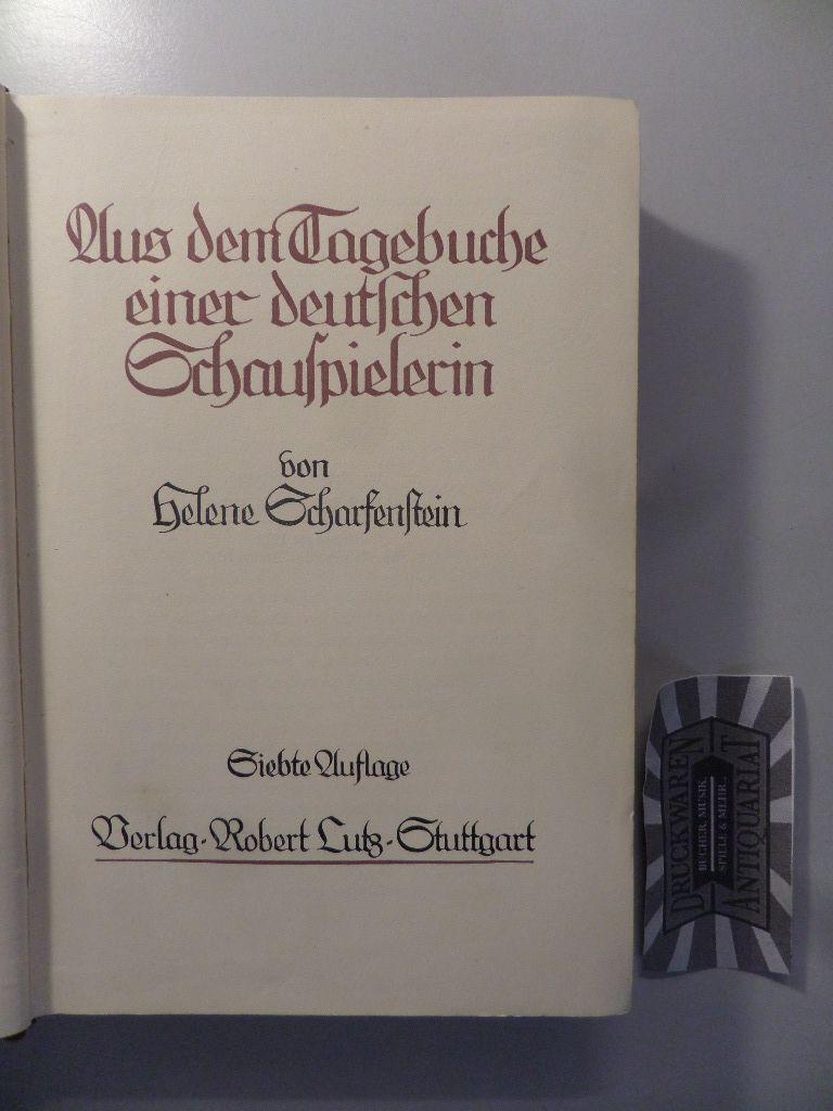Aus dem Leben einer Schauspielerin. (Memorien Bibliothek IV. Serie, Vierter Band). 7. Aufl.