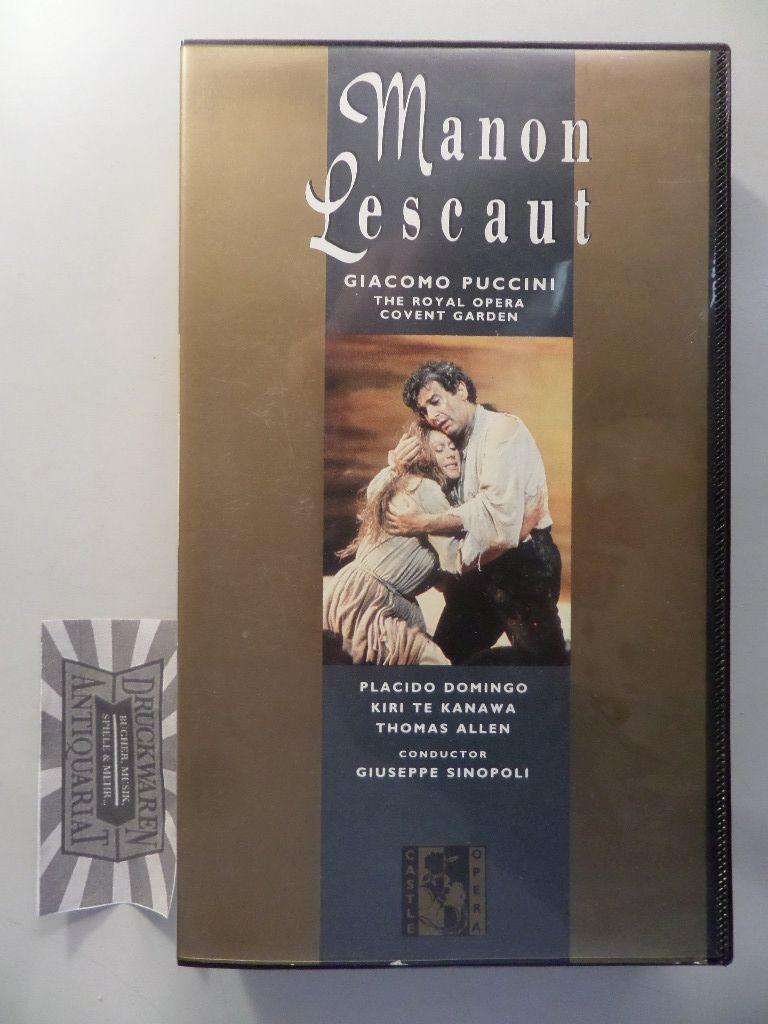 Puccini: Manon Lescaut [Videokassette].