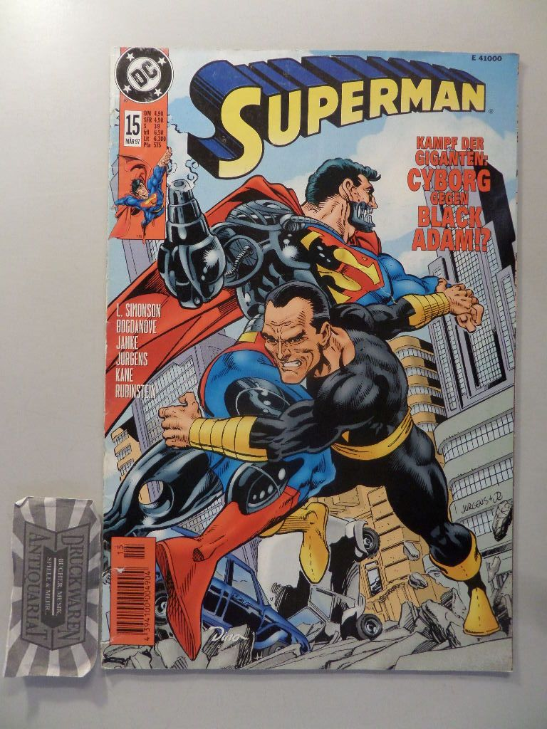 Superman. 15/97. Kampf der Giganten: Cyborg gegen Black Adam!?