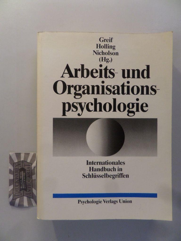 Arbeits- und Organisationspsychologie. Internationales Handbuch in Schlüsselbegriffen.