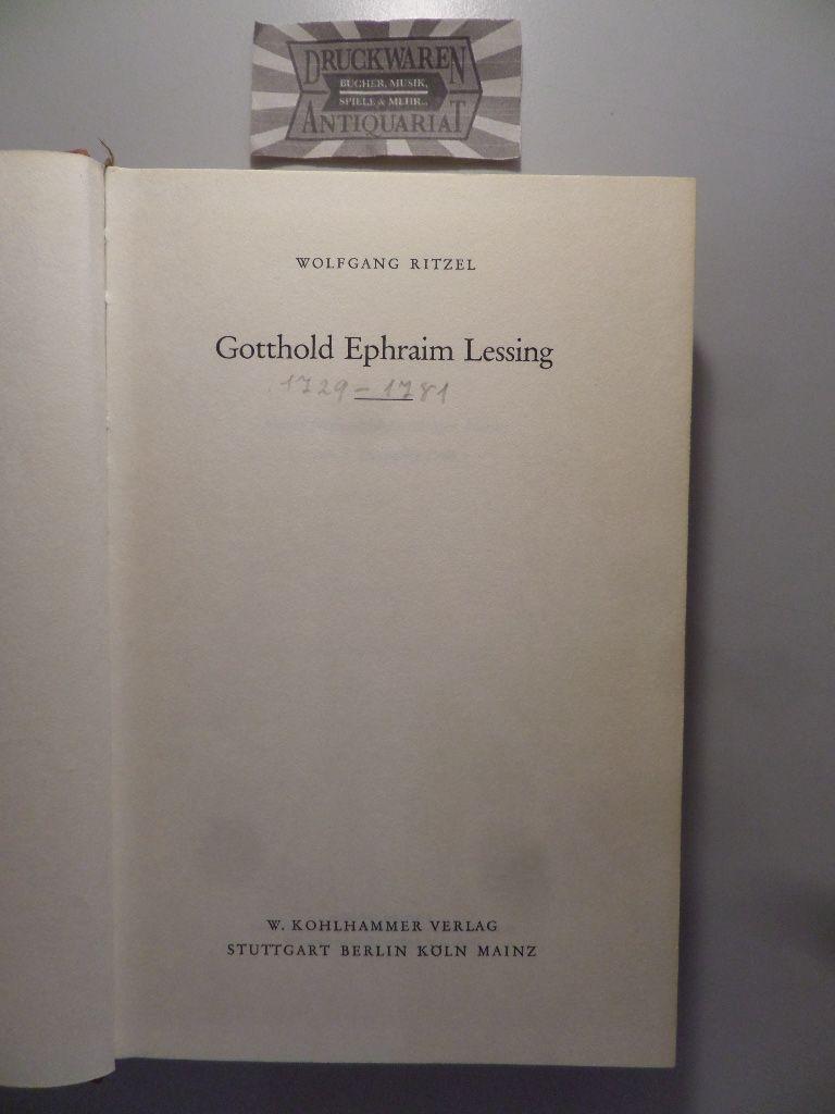 Ritzel, Wolfgang: Gotthold Ephraim Lessing.