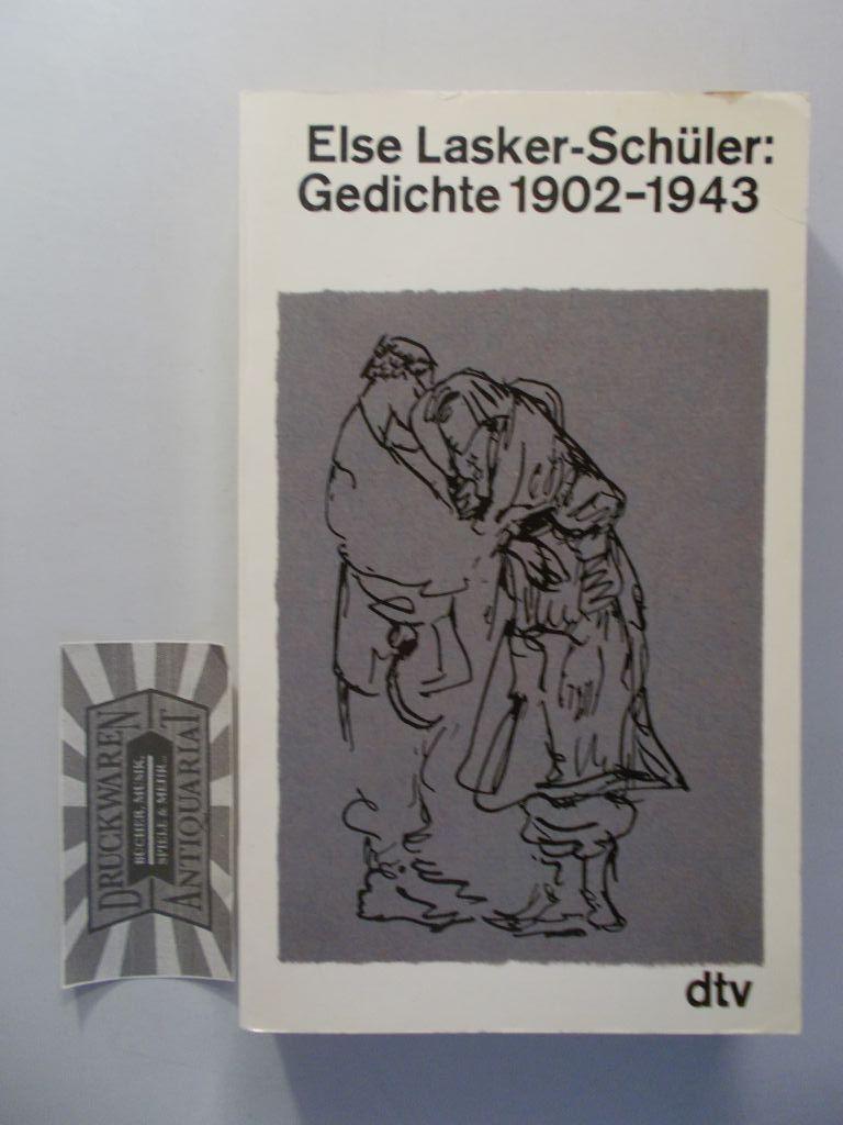 Gedichte 1902-1943. (Gesammelte Werke in acht Bänden. Band 1). 1. Aufl. - Lasker-Schüler, Else
