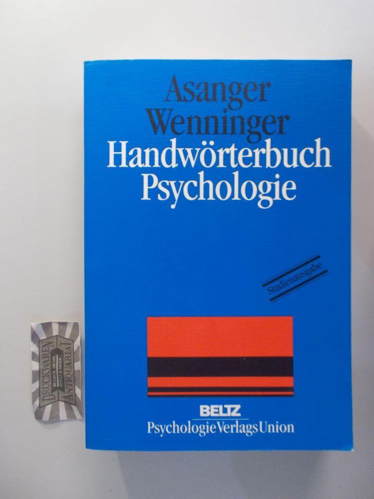 Handwörterbuch Psychologie.