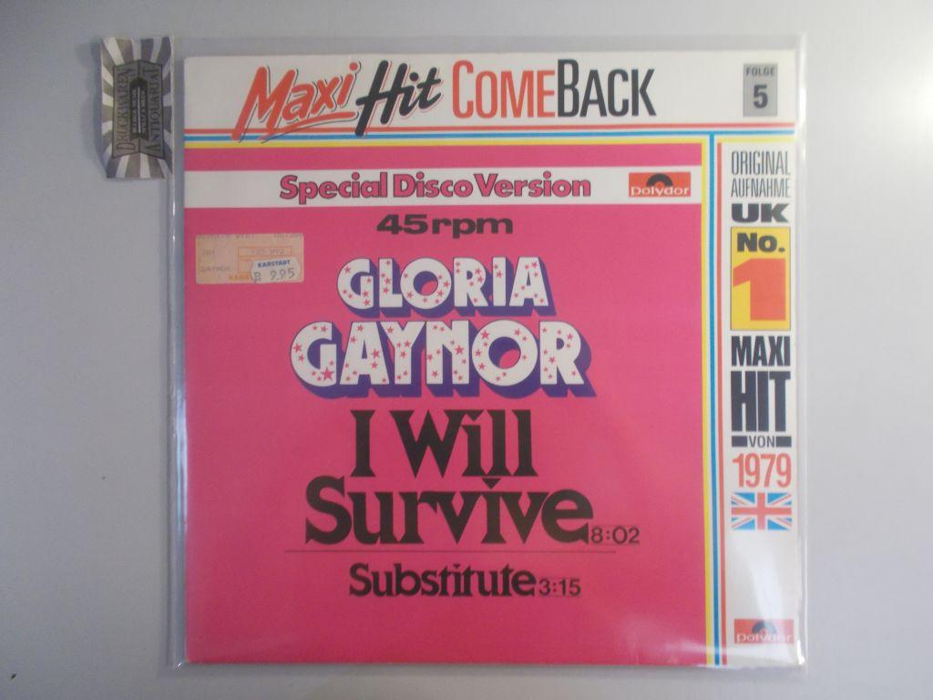 I will survive / Substitute [Vinyl Maxi Single]. (Maxi Hitcomeback-Series Folge 5). Reissue 887 200-1.