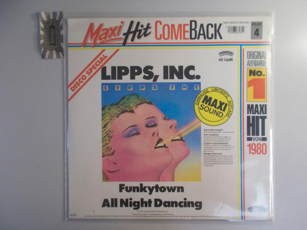 Funkytown / All Night Dancing [Vinyl Maxi-Single]. (Maxi Hit Comeback Folge 4). Reissue 888 628-1.