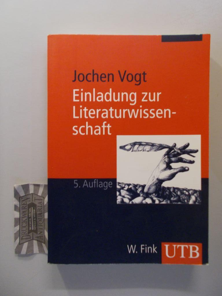 Einladung zur Literaturwissenschaft : mit einem Hypertext-Vertiefungsprogramm im Internet. UTB 2072; Studienbücher Literatur und Medien. 5., aktualisierte  Aufl.