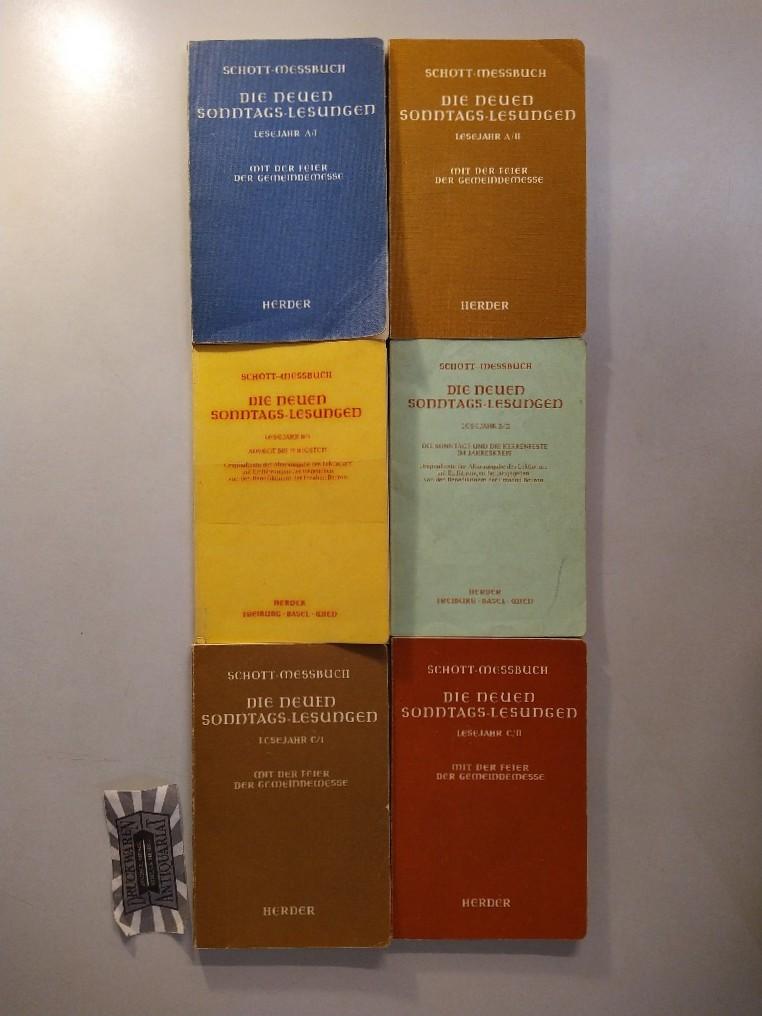 Die neuen Sonntags-Lesungen Lesejahr A/I-C/II [6 Hefte]. Originaltexte der Altarausgabe des Lektionars mit Einführungen. A/I + II / B/I + II / C/I + II.