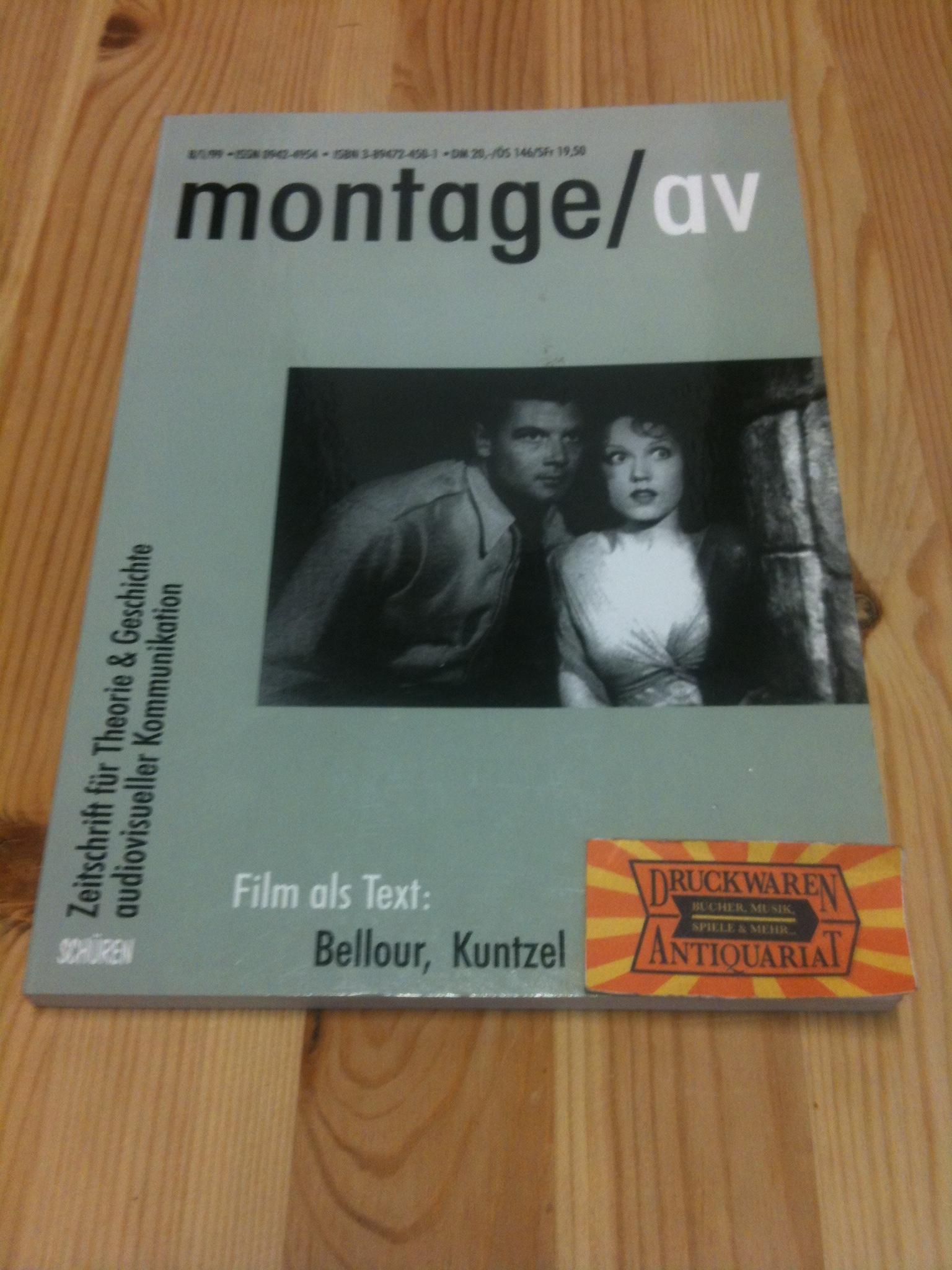 Montage/av 8/1/1999 - Zeitschrift für Theorie & Geschichte audiovisueller Kommunikation.