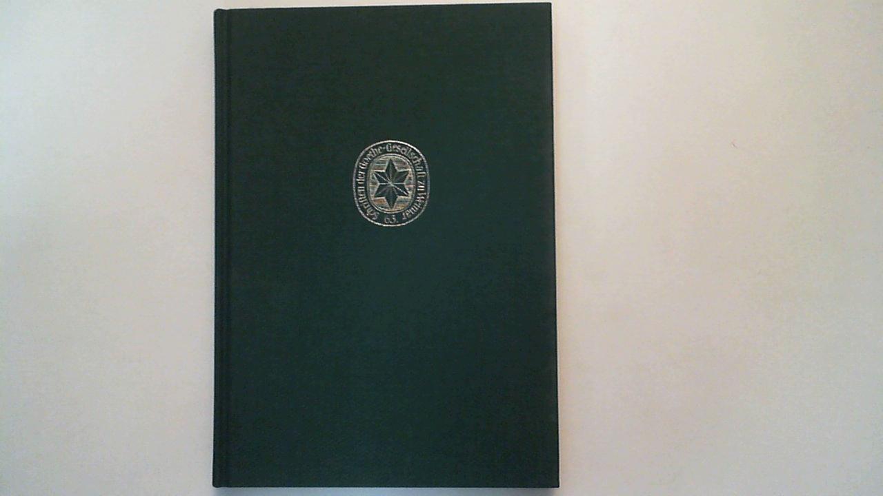 Weltbild und Dichtung im Zeitalter Goethes : acht Studien. Goethe-Gesellschaft in Weimar: Schriften der Goethe-Gesellschaft ; Bd. 63 - Trunz, Erich