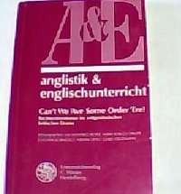 Can't we 'ave some order 'ere! : Rechtsextremismus im zeitgenössischen britischen Drama. verantw. Hrsg. dieses Bd.: Bernhard Reitz, Anglistik & Englischunterricht ; Bd. 57 - Reitz, Bernhard [Hrsg.]