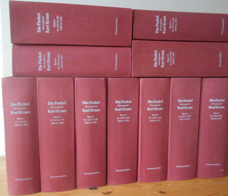 Kraus (Hrsg.), Karl: Die Fackel. Bde. 1 - 11 von 12. Reprint
