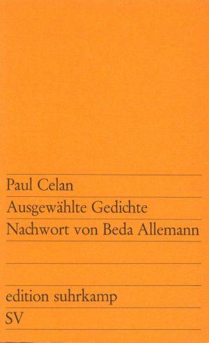 Ausgewählte Gedichte - Zwei Reden Nachwort von Beda Allemann 17. Aufl.
