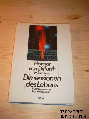 Dimensionen des Lebens : Reportagen aus der Naturwissenschaft. Volker Arzt, Ex-libris-Ausgabe.