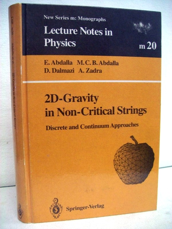 2D-Gravity in Non-Critical Strings. Discrete and Continuum Approaches. New Series m: Monographs. Lecture Notes in Physics.