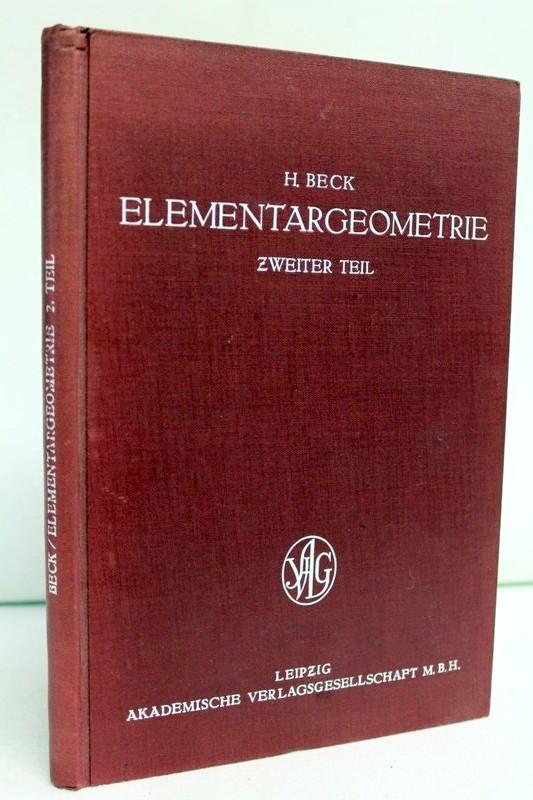 Elementargeometrie , Zweiter Teil