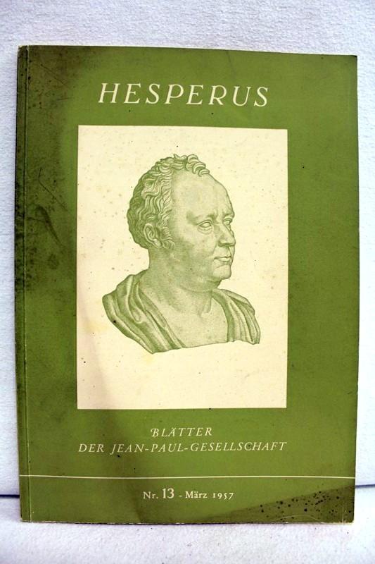 Hesperus - Blätter der Jean-Paul-Gesellschaft Nr. 13 - März 1957
