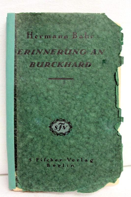 Erinnerung an Burckhard, [Direktor des K. K. Hofburgtheaters in Wien]. mit drei Porträten