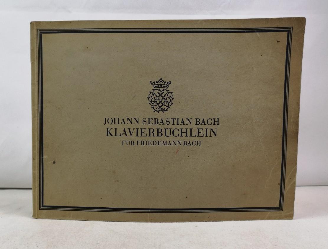 Johann Sebastian Bach. Klavierbüchlein für Friedemann Bach. Bärenreiter-Ausgabe 140.