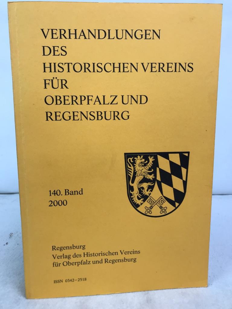 Verhandlungen des Historischen Vereins für Oberpfalz und Regensburg. 140.Band.