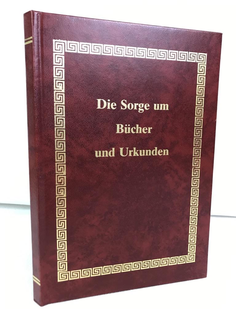 Die Sorge um Bücher und Urkunden. A. D. Baynes-Cope. Dt. Bearb. von Helmut Bansa. Zeichn. von Karl Jäckel