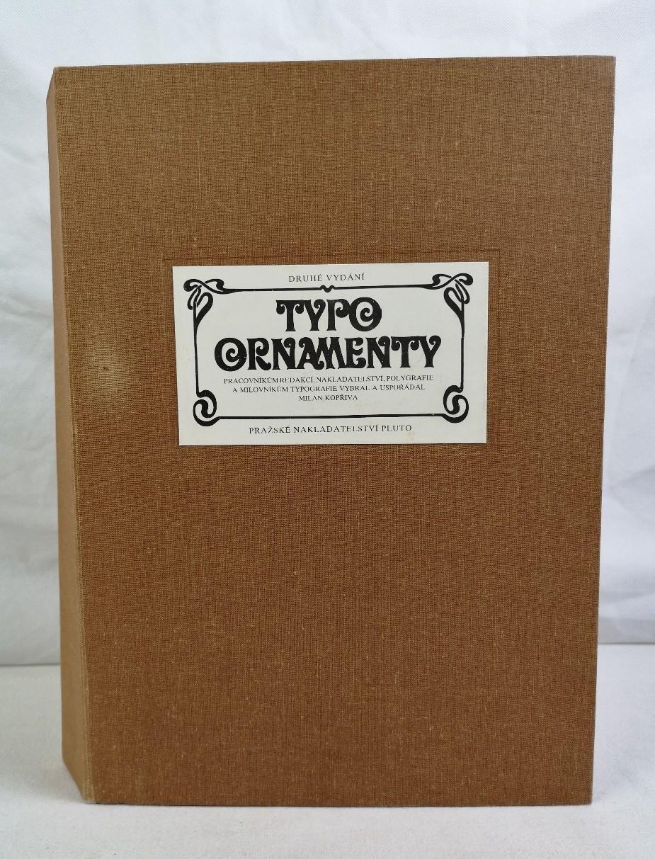 Typoornamenty. Vorwort von Bohuslav Holy.