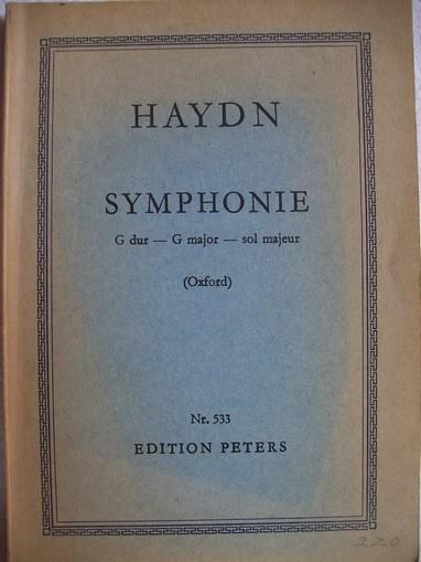 Haydn, Joseph: Haydn, Symphonie G dur - G major - sol majeur Edition Peters Nr.  533